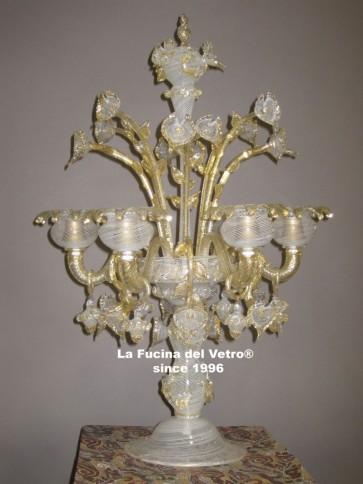 """Murano glass table flambeau """"FILIGREE"""""""