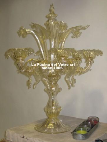 "Murano glass table flambeau ""REZZONICO"""