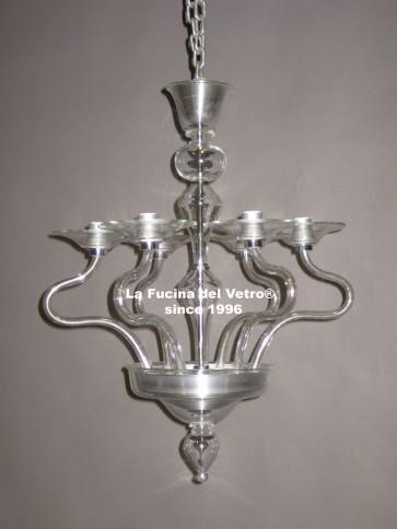 """MODERN PARABOLIC"" modern Murano glass chandelier"