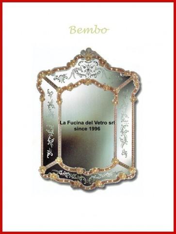 """Murano glass mirror """"BEMBO"""""""