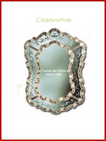 """Murano glass mirror """"CASANOVA"""""""