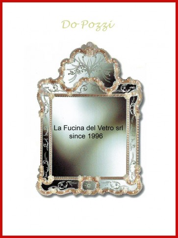 "Murano glass mirror ""DO POZZI"""