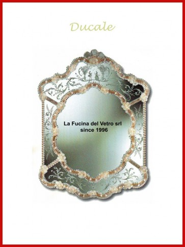 "Murano glass mirror ""DUCALE"""