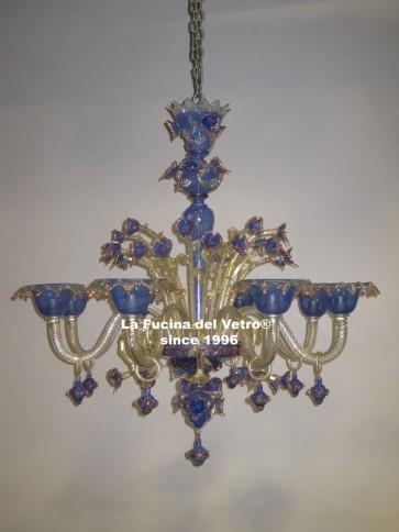 """""""FILIGREE COLORED"""" Murano glass chandelier"""