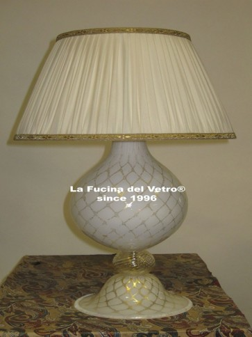 "Murano glass table lamp ""GRID"""