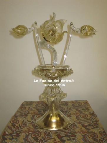 """Murano glass table lamp """"TULIPS"""""""