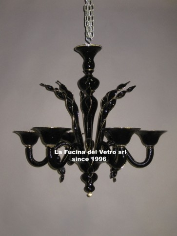 """LUST"" Murano glass chandelier - Classic Murano chandelier"