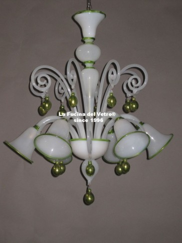 "Murano glass chandelier ""PASTORAL MANU"""