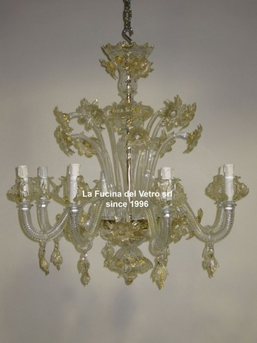 """""""DAISIES"""" classic Floral Murano glass chandelier"""