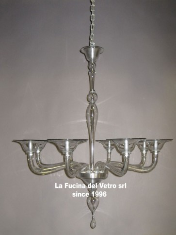 """MODERN PIPE"" Murano glass chandelier"