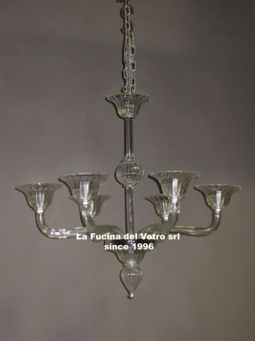 """MODERN GREED"" Murano glass chandelier"
