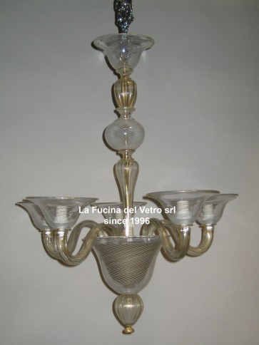 """MODERN FILIGREE"" Contemporary Murano glass chandelier"