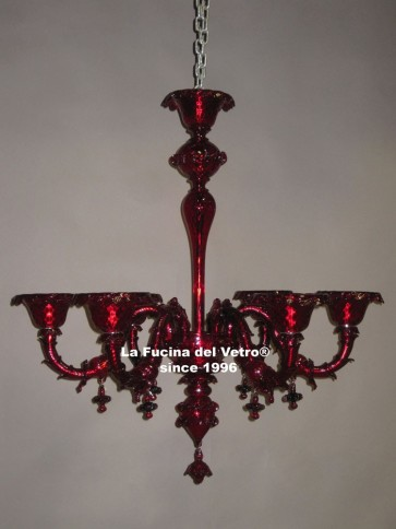 """MODERN REZZONICO COLORED""  Murano glass chandelier"