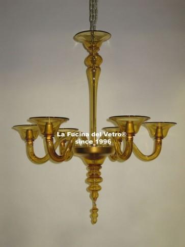 """MODERN CLUSTER"" Modern Murano glass chandelier"