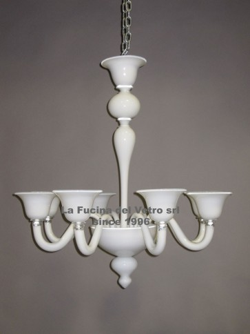 """MODERN PASTORAL COLORED SMOOTH VERS.2"" Murano glass chandelier"