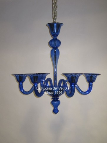 """Murano glass chandelier """"MODERN PASTORAL COLORED VERS. 2"""""""