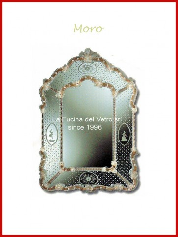 "Murano glass mirror ""MORO"""