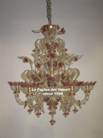 "Murano glass chandelier ""MINIREZZONICO CLASSIC"""