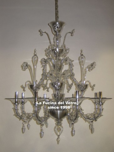 "Murano glass chandelier ""REZZONICO MODERNIZED"""