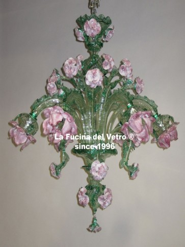 """ROSE GARDEN VERS. 2"" Murano glass chandelier"