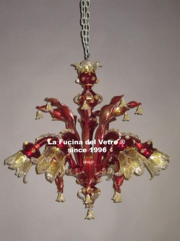 """CENTURY TWISTED"" Classic Murano glass chandelier"