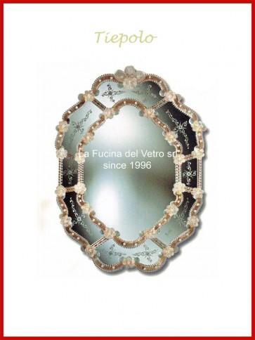 """Murano glass mirror """"TIEPOLO"""""""