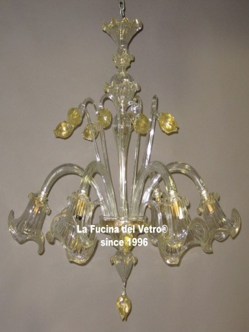 """TULIPS""  Murano glass chandelier"