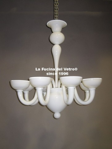 "Murano glass chandelier ""MODERN LINE"""