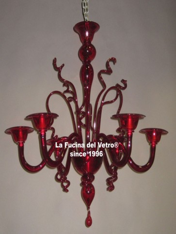 """VARIGOLA COLORED VERS.4"" Murano glass chandelier"