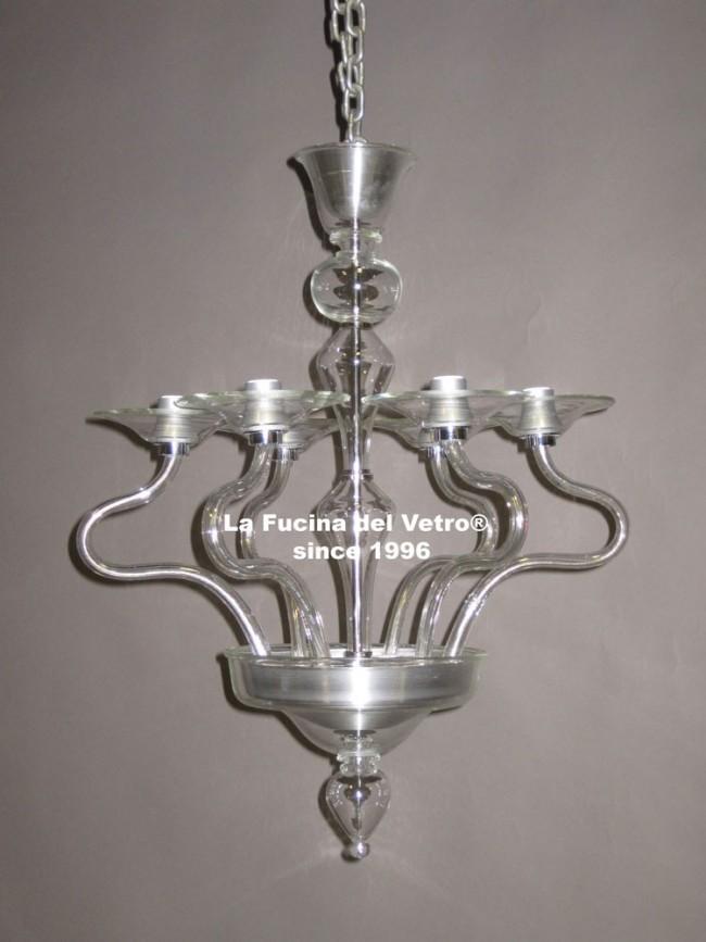 Modern parabolic murano glass chandelier contemporary murano modern parabolic modern murano glass chandelier aloadofball Images
