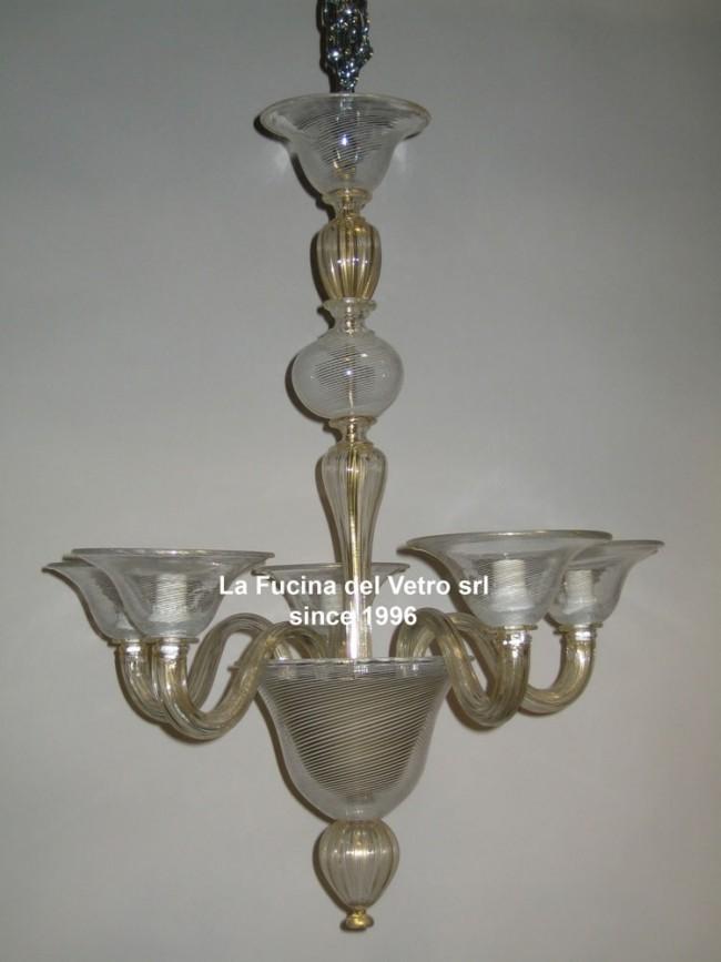 Modern filigree murano glass chandelier modern filigree contemporary murano glass chandelier aloadofball Images
