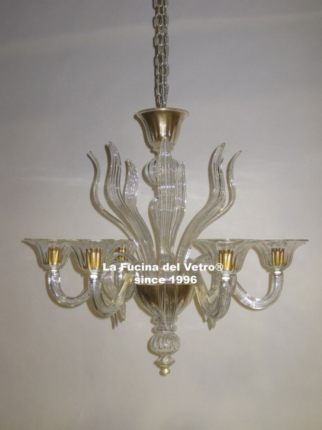 spears modern murano glass chandelier. Black Bedroom Furniture Sets. Home Design Ideas