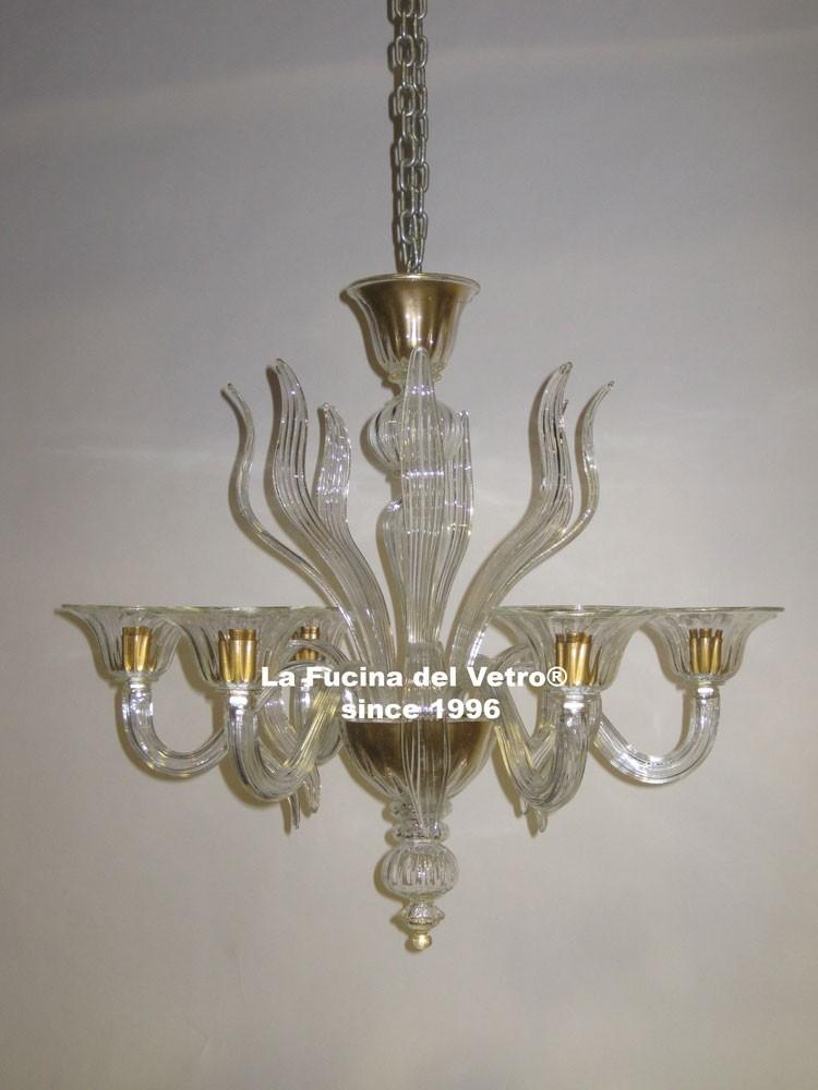 spears modern murano glass chandelier. Black Bedroom Furniture Sets. Home Design Ideas
