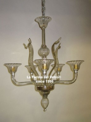 "Murano glass chandelier ""GREED"""