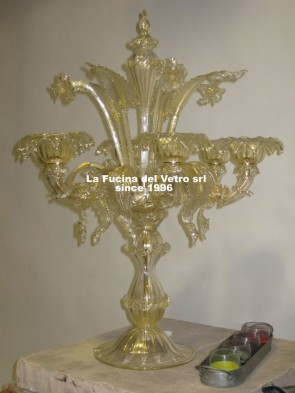"Murano glass table flambeau ""REZZONICO"""