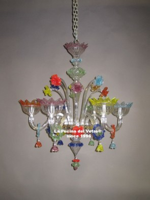 """GLUTTONY""  Murano glass chandelier"
