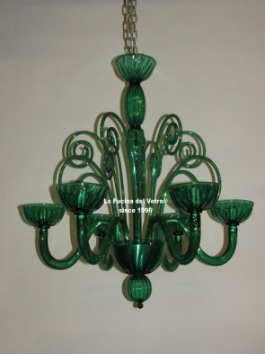 "Murano glass chandelier  ""ENVY"""