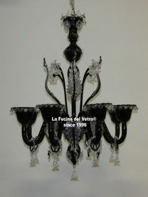 "Murano glass chandelier ""WRATH"""