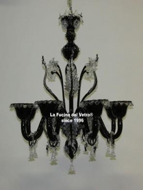 "Murano glass chandelier ""WRATH"""