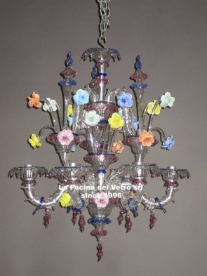 "Murano glass chandelier ""MINIREZZONICO GLASS PASTE"""