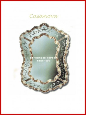 "Murano glass mirror ""CASANOVA"""