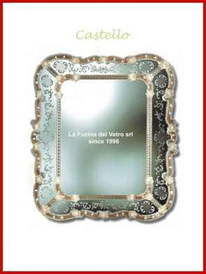 "Murano glass mirror ""CASTELLO"""