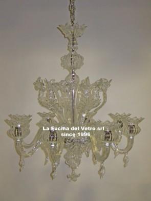 "Murano glass chandelier ""ONION"""