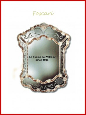 "Murano glass mirror ""FOSCARI"""