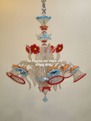"""HIBISCUS"" Murano glass chandelier"