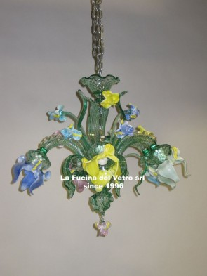 """IRIS""  Murano glass chandelier"