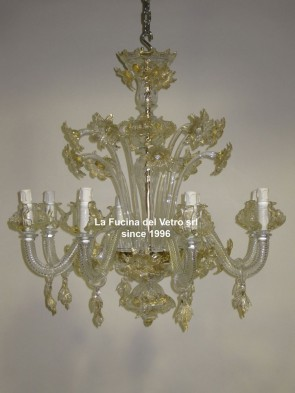 """DAISIES"" classic Floral Murano glass chandelier"