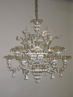 "Murano glass chandelier ""MINIREZZONICO FILIGREE"""