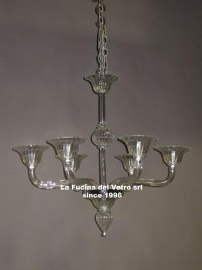 """MODERN GREED"" Murano glass chandelier"