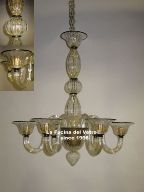 """BUBBLES"" Modern Murano glass chandelier"